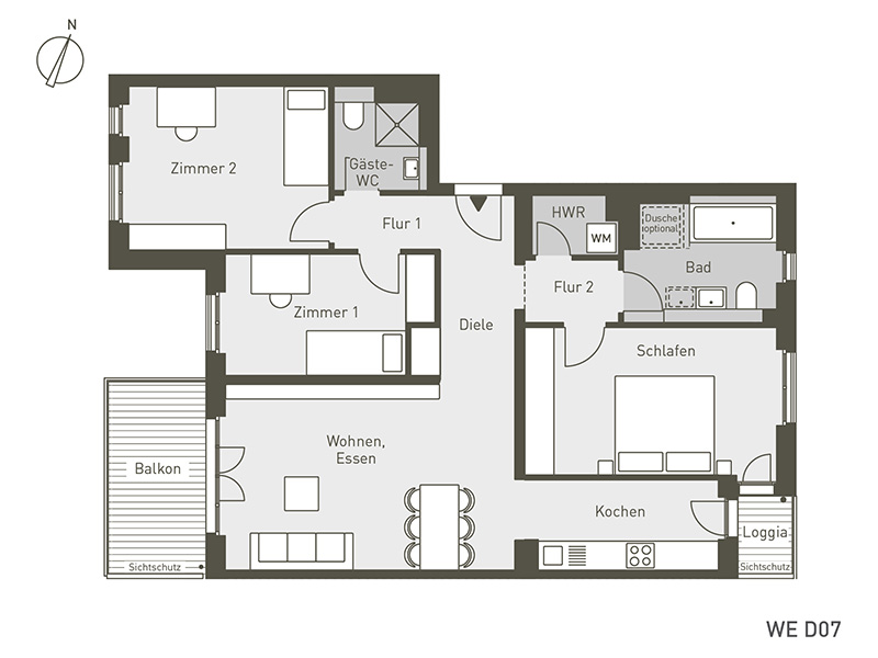 The Link | D07 | 4-Zimmer | 101.58 m²