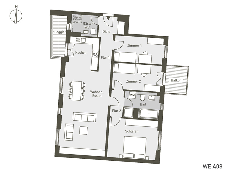 The Link | A08 | 4-Zimmer | 109.28 m²