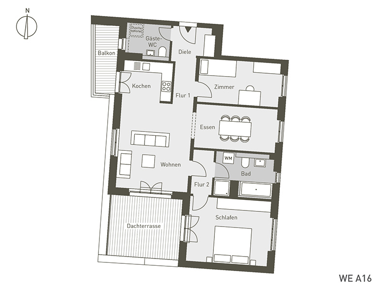 The Link | A16 | 4-Zimmer | 96.21 m²